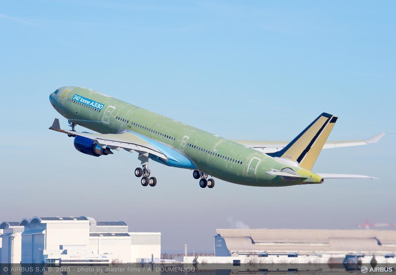 Az első A330-300 242t felszállás január 12-én. (Fotó: Airbus) | © AIRportal.hu