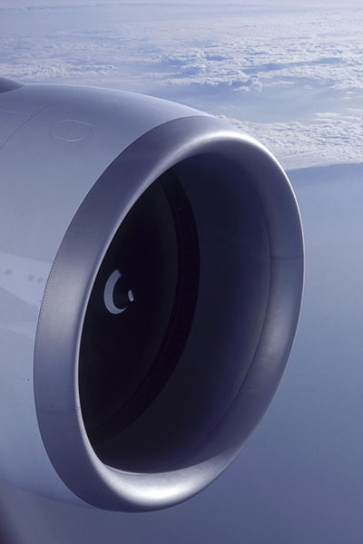 GE90-es Boeing 777 hajtómű. (Fotó: Air France)   © AIRportal.hu