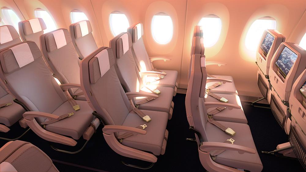 Finnair A350XWB Economy Class látványterv. (Forrás: Finnair)   © AIRportal.hu