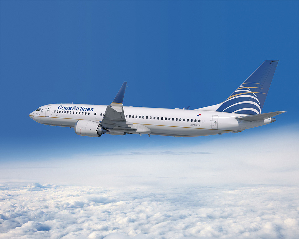Boeing 737 MAX-8 Copa Airlines színekben. (Forrás: Boeing Company) | © AIRportal.hu