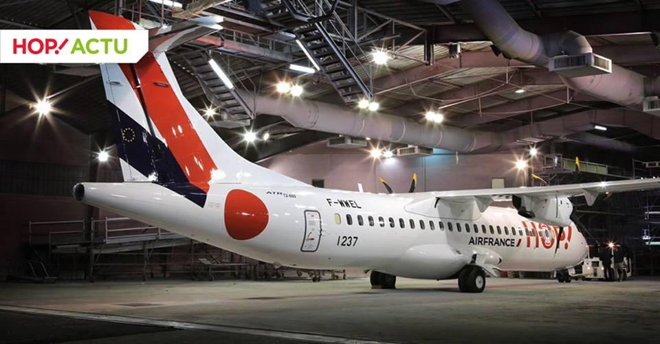 A HOP! első ATR 72-600-asa itt még a gyári F-WWEL berepülő lajstromban. (Fotó: HOP! Air France)   © AIRportal.hu