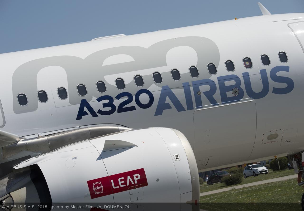 Jól látható a CFM LEAP jelzés a hajtóműgondolán. (Fotó: Airbus)   © AIRportal.hu