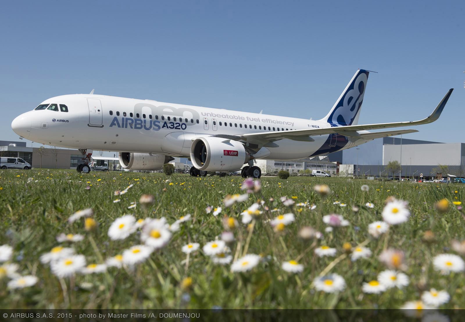 Az első CFM LEAP-1A hajtóművel szerelt A320neo prototípus. (Fotó: Airbus via CFM International)   © AIRportal.hu