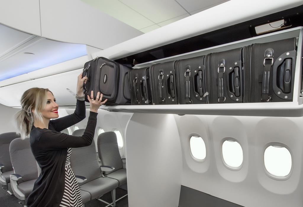 A seattle-i Boeing 737 Configuration Studióban készült fotó az új Space Bin-ről. (Forrás: Boeing Company) | © AIRportal.hu