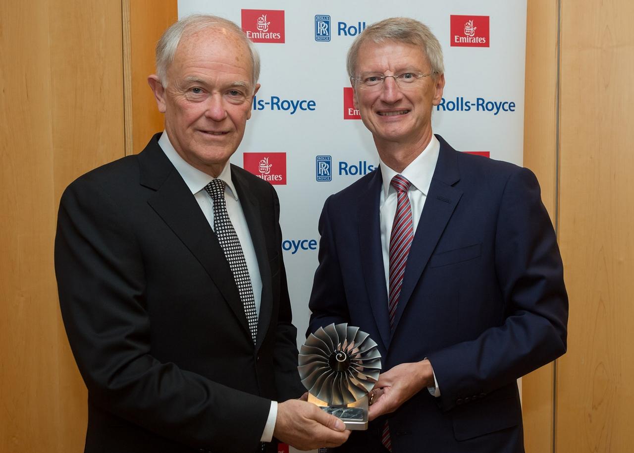 Sir Tim Clark, Emirates elnök és John Rishton, Rolls-Royce vezérigazgató. (Fotó: Rolls-Royce) | © AIRportal.hu