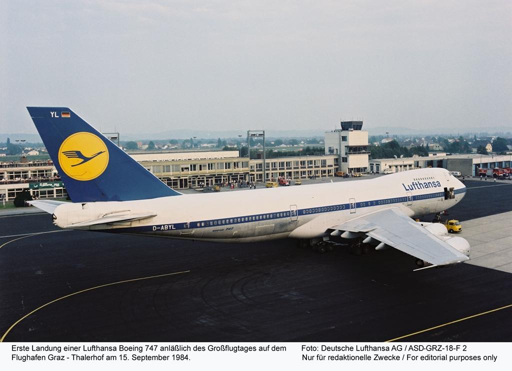 Múltidéző összehasonlítás: Lufthansa Boeing 747-200-as 1984-ben. (Fotó: Lufthansa) | © AIRportal.hu