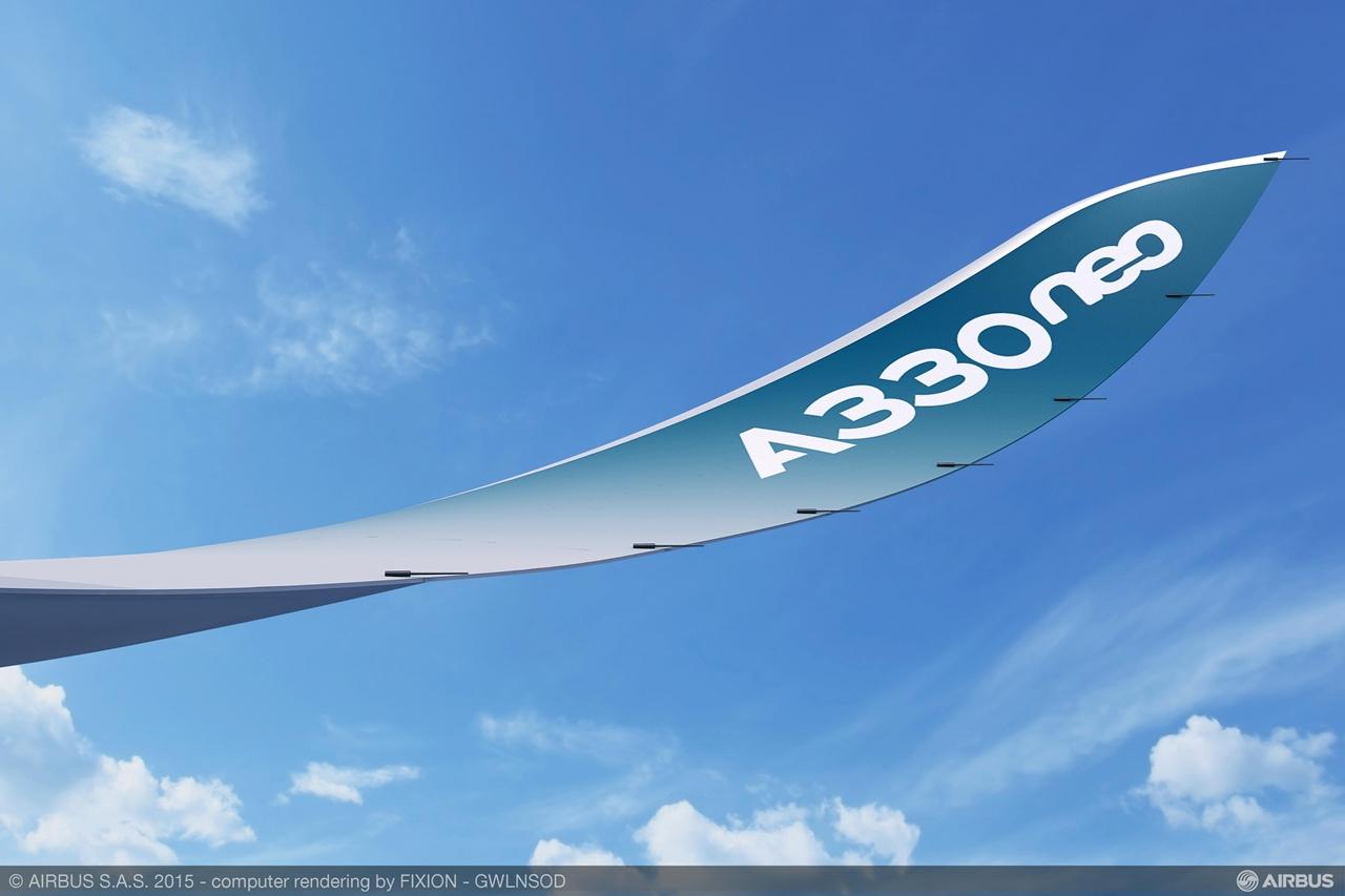 A330neo szárnyvég közelebbről. (Fotó: Airbus) | © AIRportal.hu
