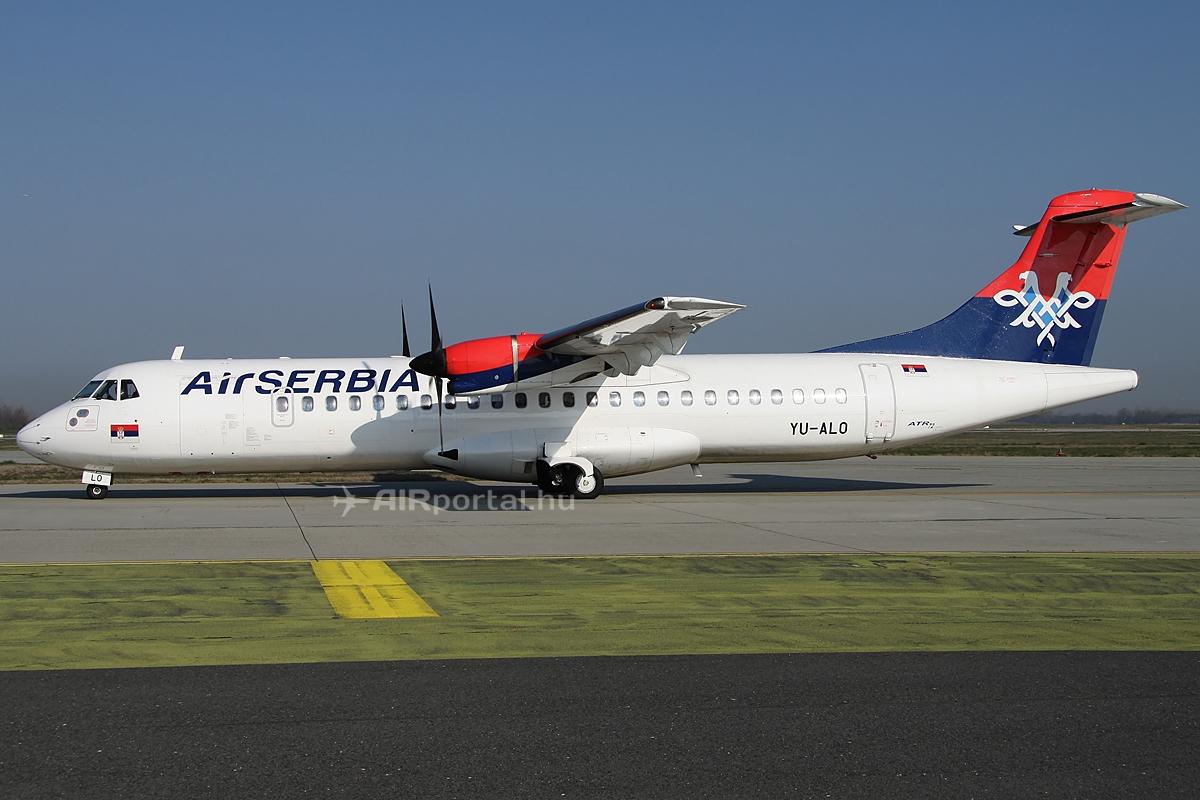 Az Air Serbia egyik ATR 72-es típusa a budapesti Liszt Ferenc repülőtéren. (Fotó: © Csemniczky Kristóf - AIRportal.hu) | © AIRportal.hu