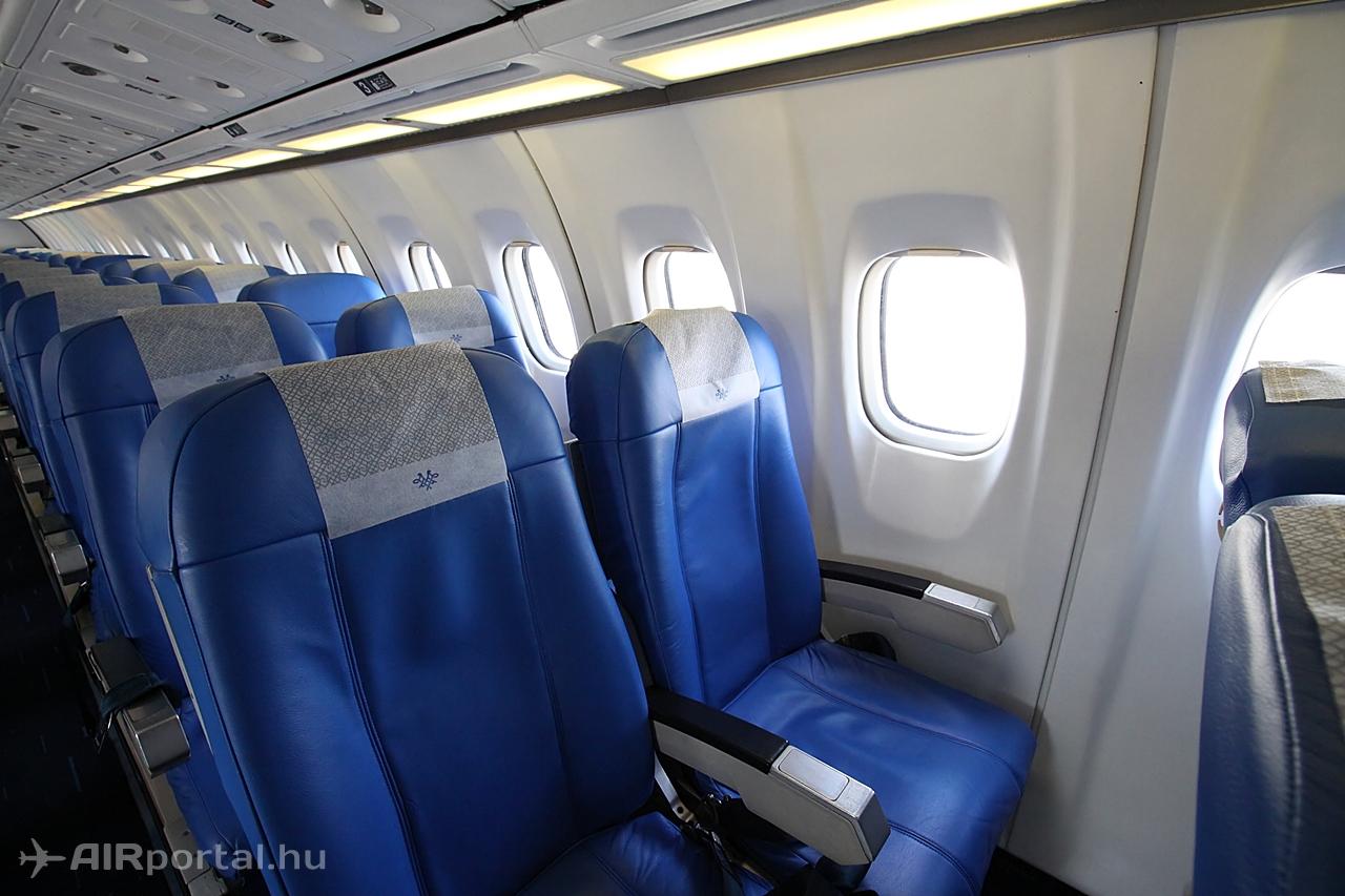Air Serbia ATR 72 bőrüléses utaskabinja. (Fotó: © Csemniczky Kristóf - AIRportal.hu) | © AIRportal.hu