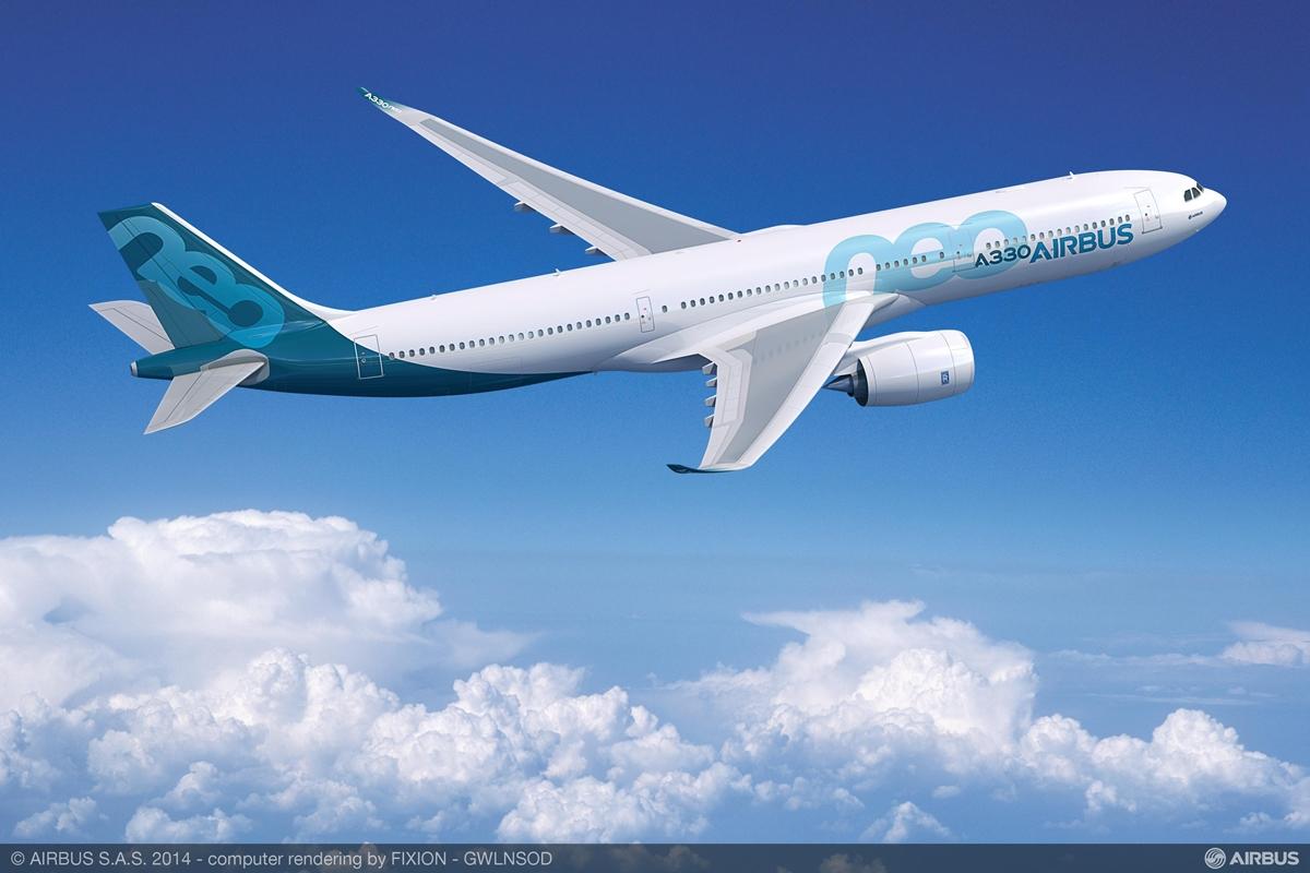 Airbus A330-900neo látványterv. A továbbfejlesztett típus várhatóan 2017 végén állhat forgalomba. (Forrás: Airbus)   © AIRportal.hu