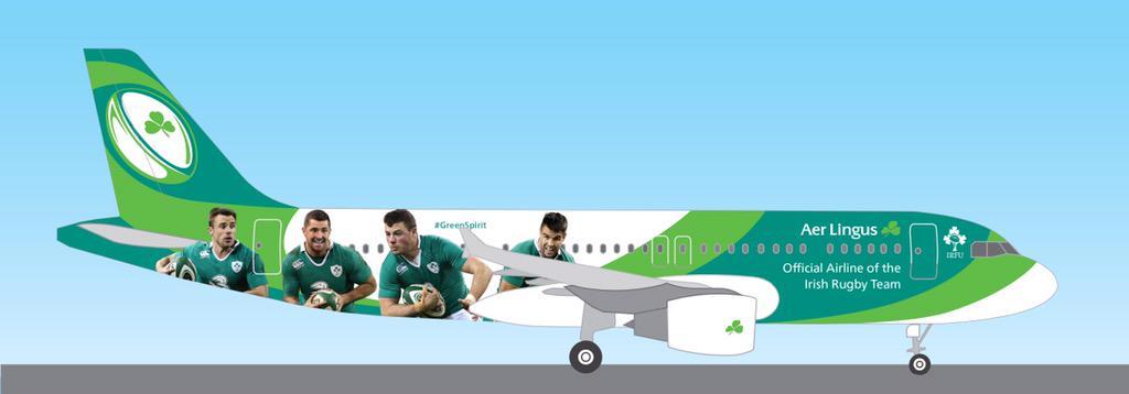 Az Aer Lingus az ír rugby válogatott hivatalos légitársasága. (Forrás: Aer Lingus) | © AIRportal.hu