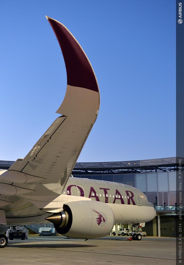 Qatar A350-900XWB a toulouse-i átadóközpontban. (Fotó: Airbus)   © AIRportal.hu