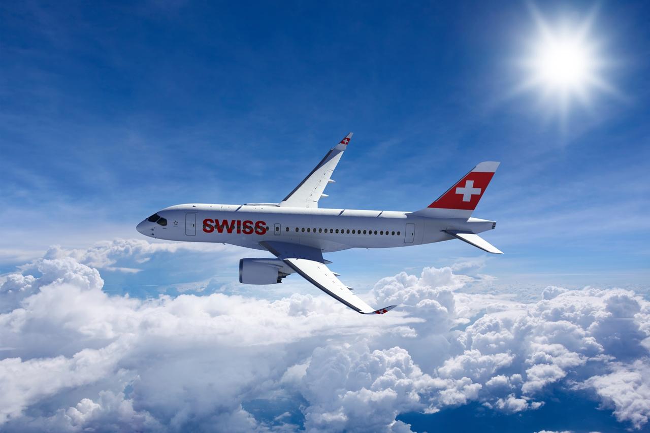 Bombardier CS100 Swiss színekben, látványterven. (Forrás: Bombardier Aerospace) | © AIRportal.hu
