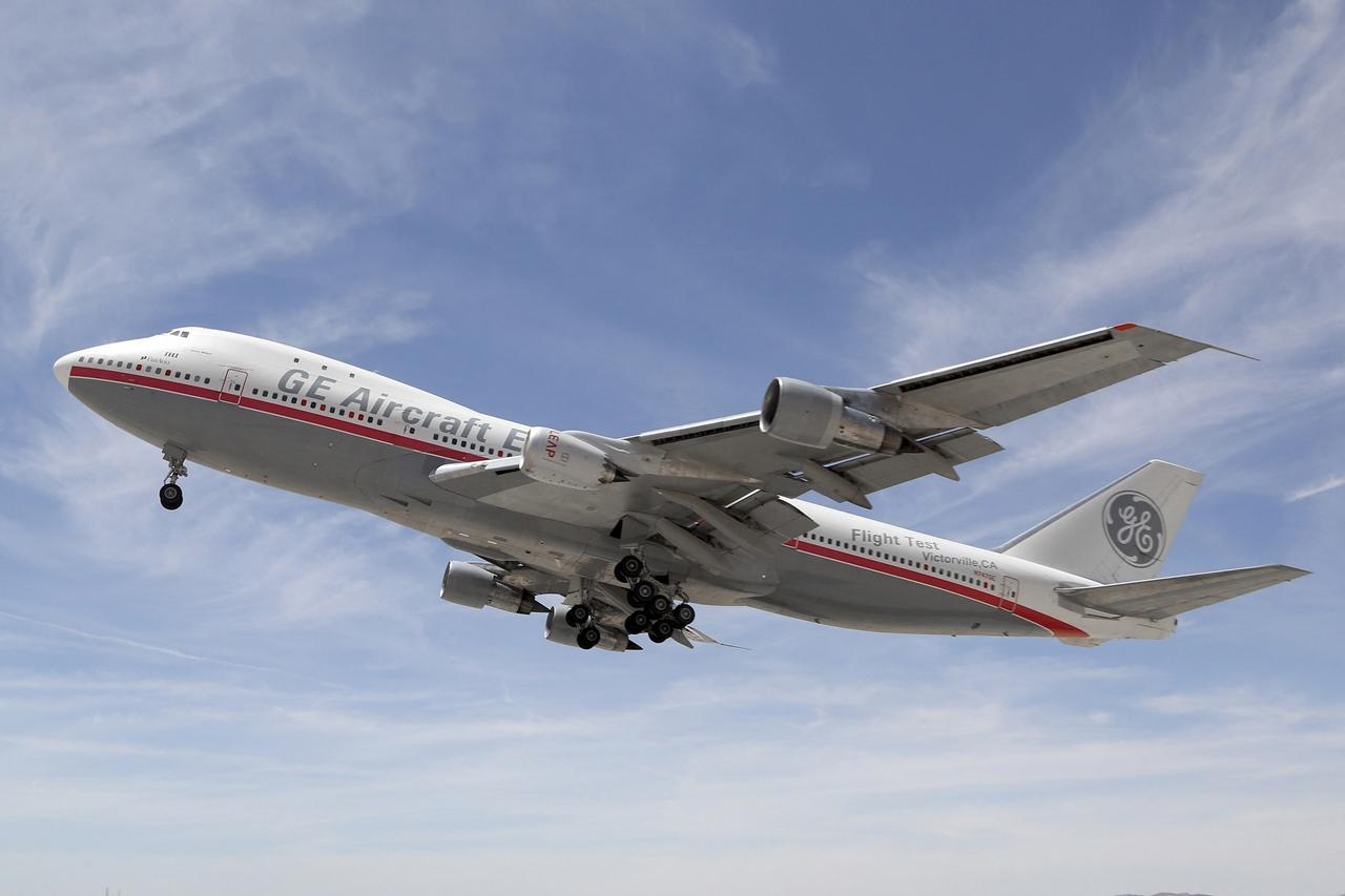 A Boeing 747-100-assal felszálló LEAP-1B hajtómű. (Fotó: CFM International via Boeing Company)   © AIRportal.hu