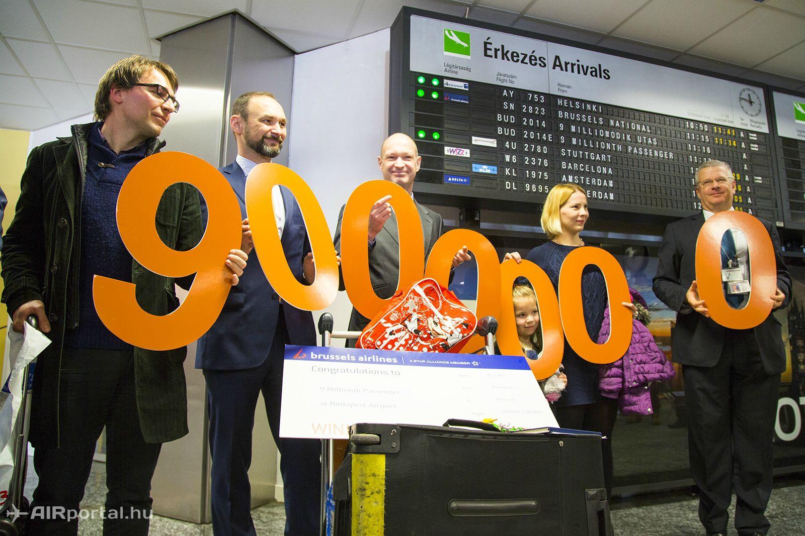 A repülőtér utasszáma decemberben lépte át a 9 milliót. (Fotó: AIRportal.hu) | © AIRportal.hu
