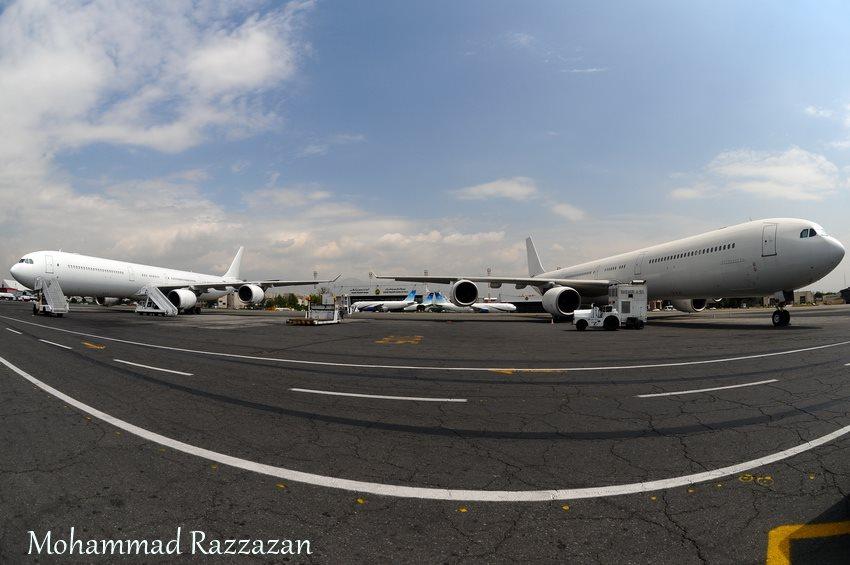 Az újonnan érkezett A340-600-asok közül kettő Teheránban. (Fotó: Mohammad Razzazan - A szerző engedélyével.) | © AIRportal.hu