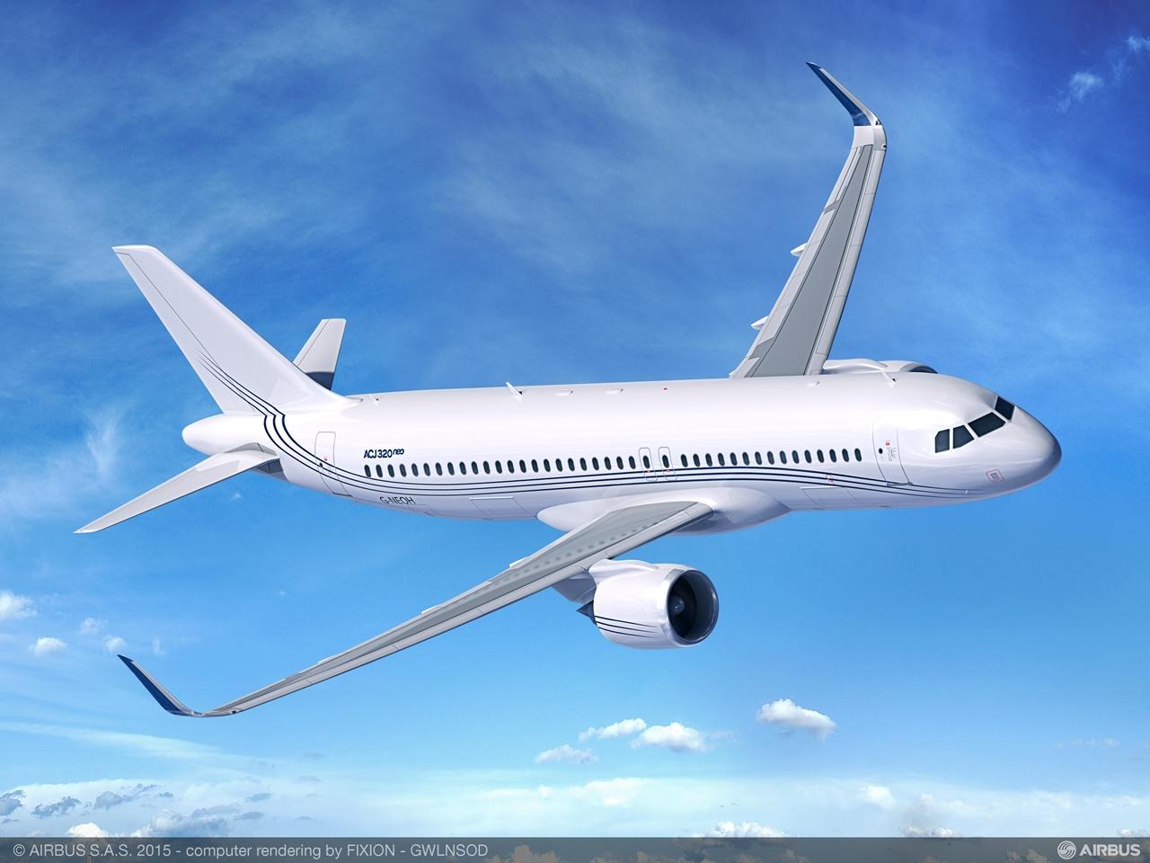 ACJ320neo az első megrendelő, az Acropolis színeiben. (Forrás: Airbus)   © AIRportal.hu
