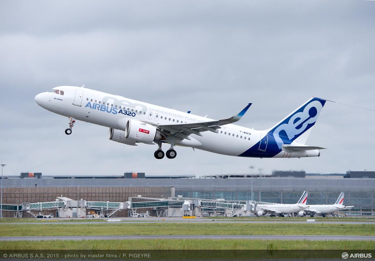 Levegőben az első CFM hajtóműves A320neo. (Fotó: Airbus)   © AIRportal.hu