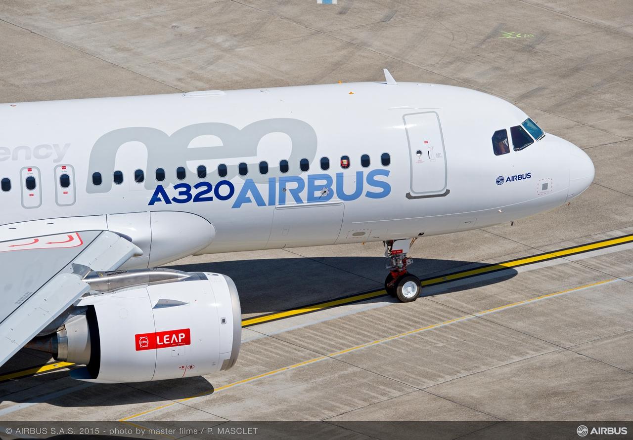 Gurulás közben az első CFM hajtóműves A320neo. (Fotó: Airbus)   © AIRportal.hu
