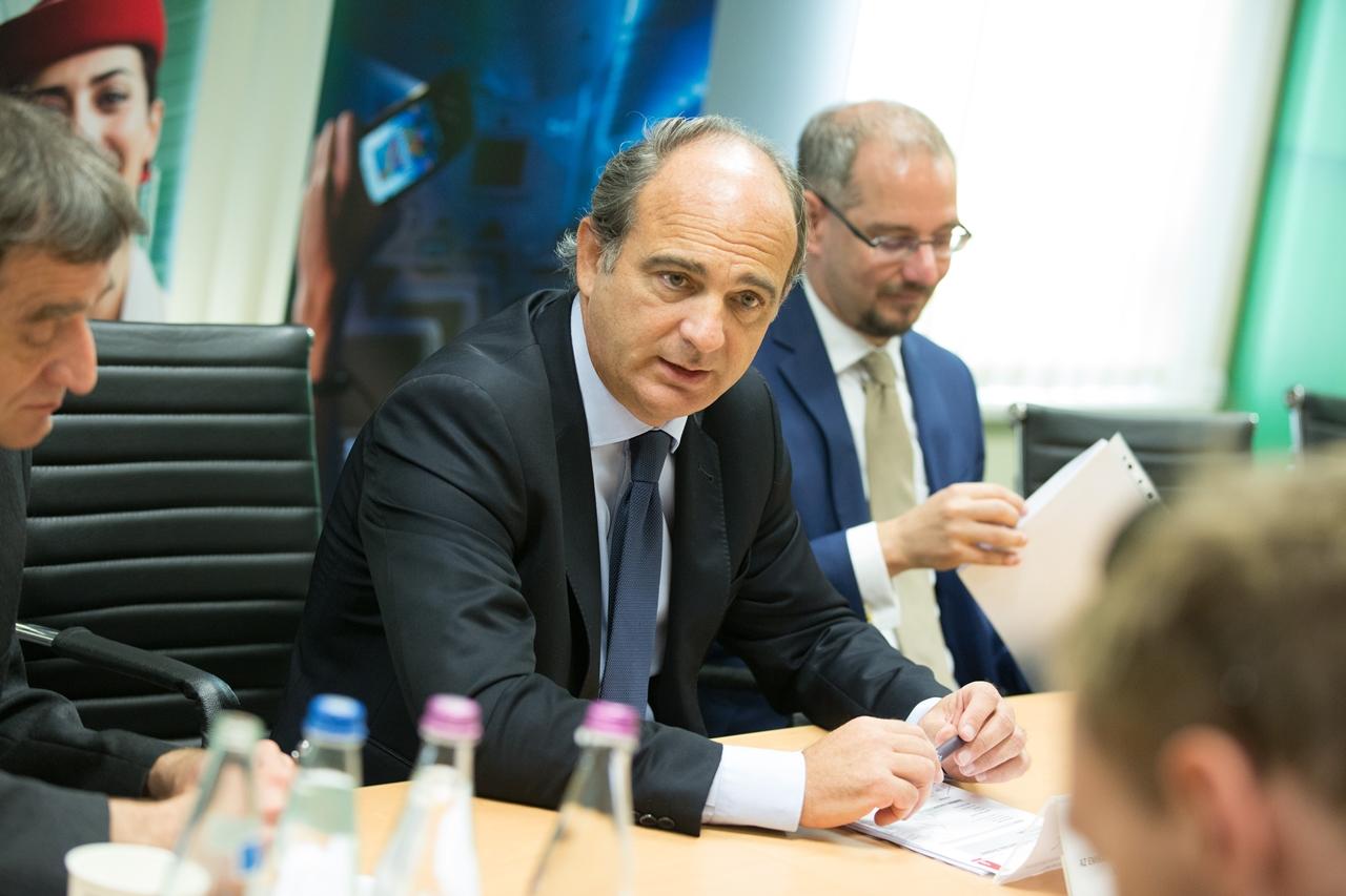 Thierry Aucoc, az Emirates európai és oroszországi kereskedelmi működésért felelős alelnöke. | © AIRportal.hu