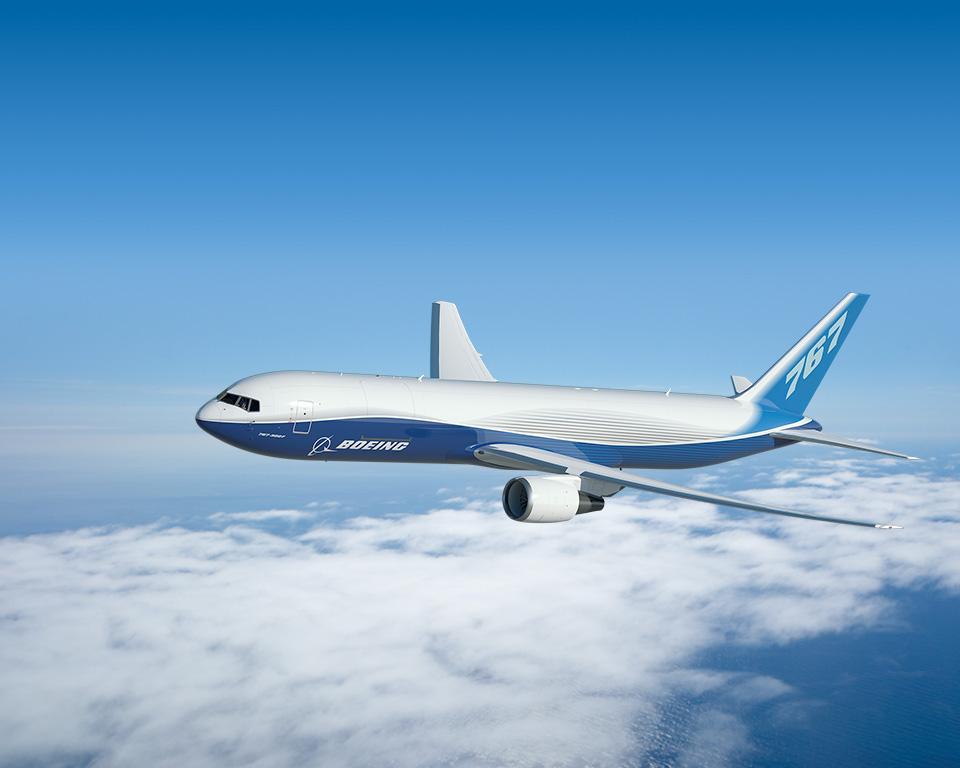 Boeing 767-300F gyári színekben. (Fotó: Boeing Company) | © AIRportal.hu