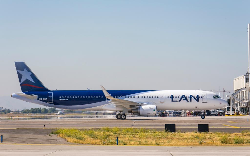 A LAN Airlines egyik sharkletes A321-es Airbusa. (Fotó: Airbus)   © AIRportal.hu