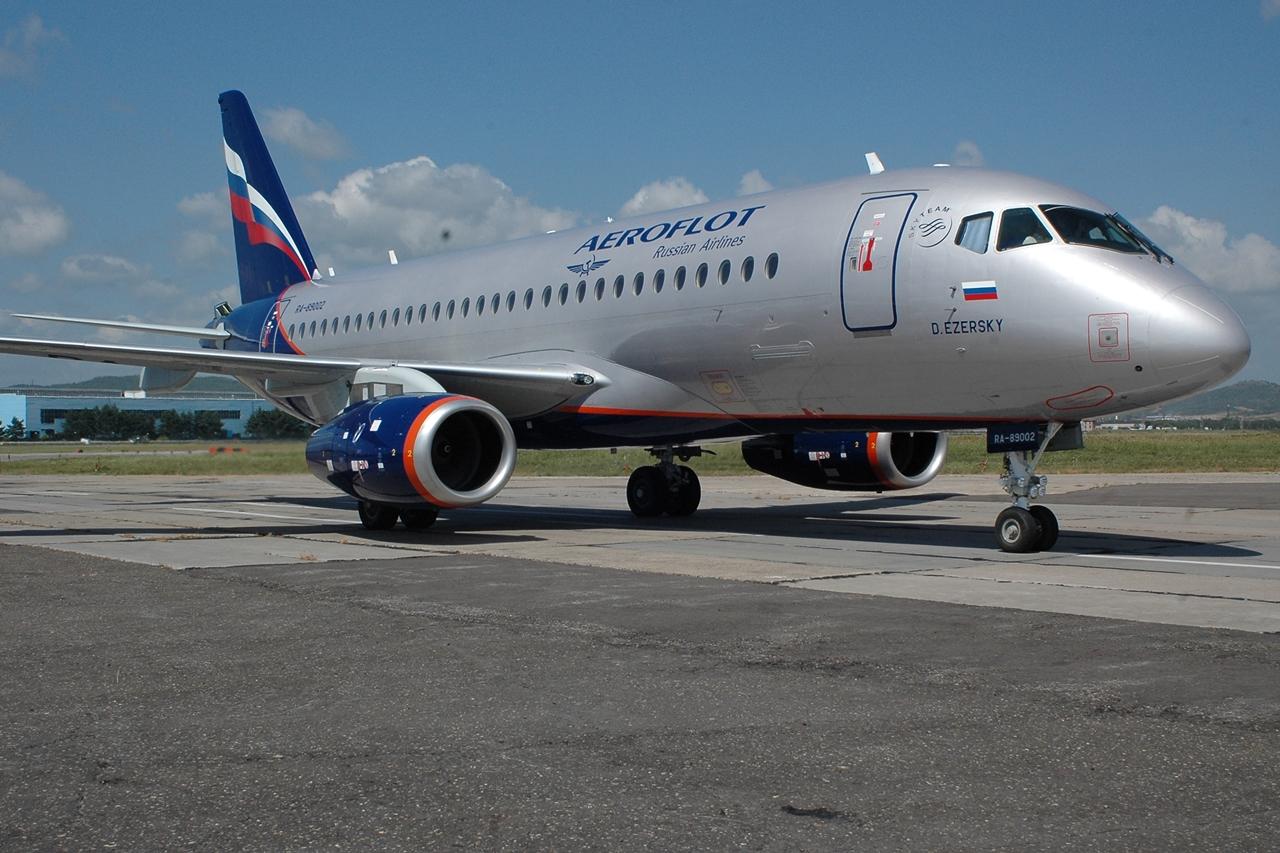 Aeroflot SSJ-100-as. Az orosz nemzeti légitársaság a típus legnagyobb üzemeltetője. (Fotó: SuperJet International) | © AIRportal.hu