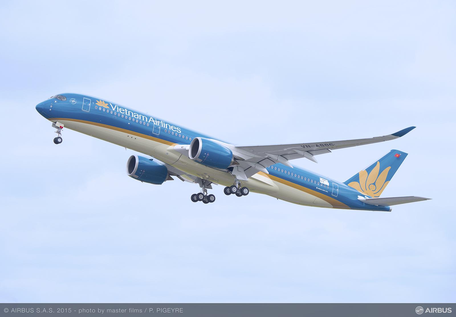 Levegőben a Vietnam Airlines A350-ese. (Fotó: Airbus) | © AIRportal.hu