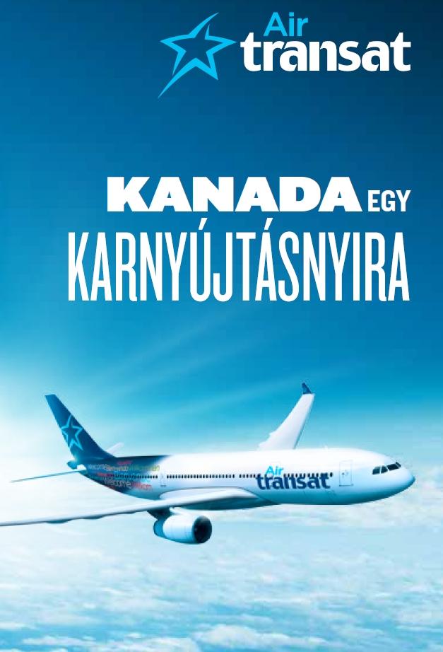 A magyar nyelvű Air Transat katalógus címlapja. (Forrás: AVIAREPS) | © AIRportal.hu