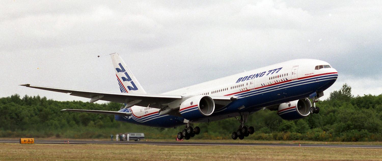A Boeing 777-es első felszállása 1994. június 12-én. (Fotó: Boeing Company) | © AIRportal.hu