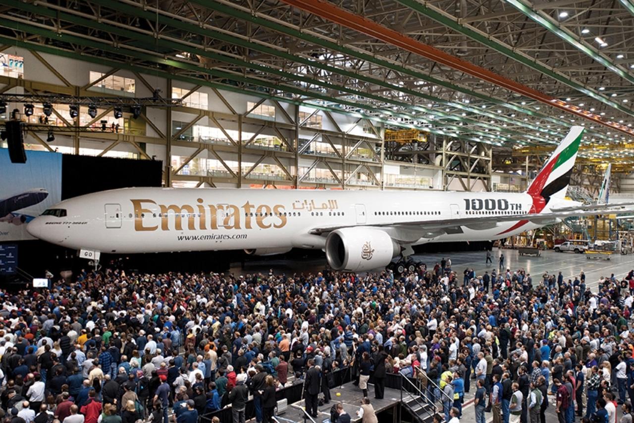 Az ezredik Boeing 777-es egy 777-300ER, amely az Emirates flottájába került 2012-ben. (Fotó: Boeing Company) | © AIRportal.hu