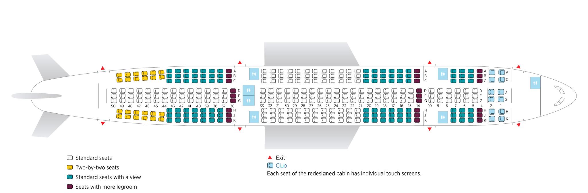 Air Transat A330-200 üléstérkép. (Forrás: Air Transat) | © AIRportal.hu