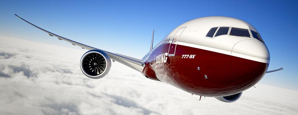 Boeing 777-9X, a leendő legnagyobb triplahetes látványterve. (Forrás: Boeing Company) | © AIRportal.hu
