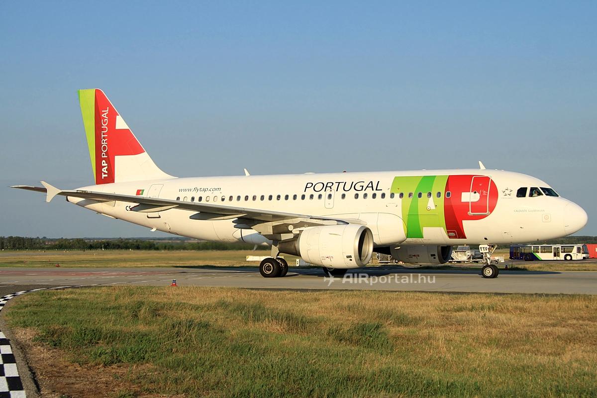 TAP Portugal Airbus A319-es a budapesti Liszt Ferenc repülőtéren. Fotó: Csemniczky Kristóf - AIRportal.hu | © AIRportal.hu
