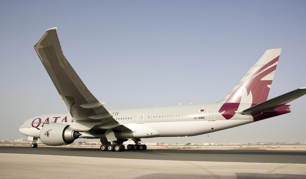 A mai flotta egyik Boeing 777-200LR gépe. (Fotó: Qatar Airways) | © AIRportal.hu
