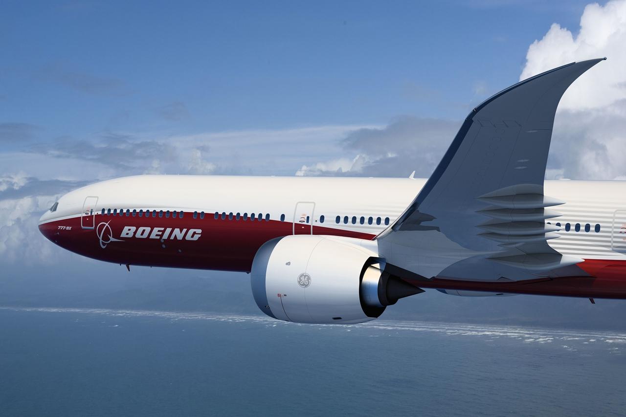 A leendő legnagyobb új Triplahetes, a 777-9X látványterven. (Forrás: Boeing Company) | © AIRportal.hu