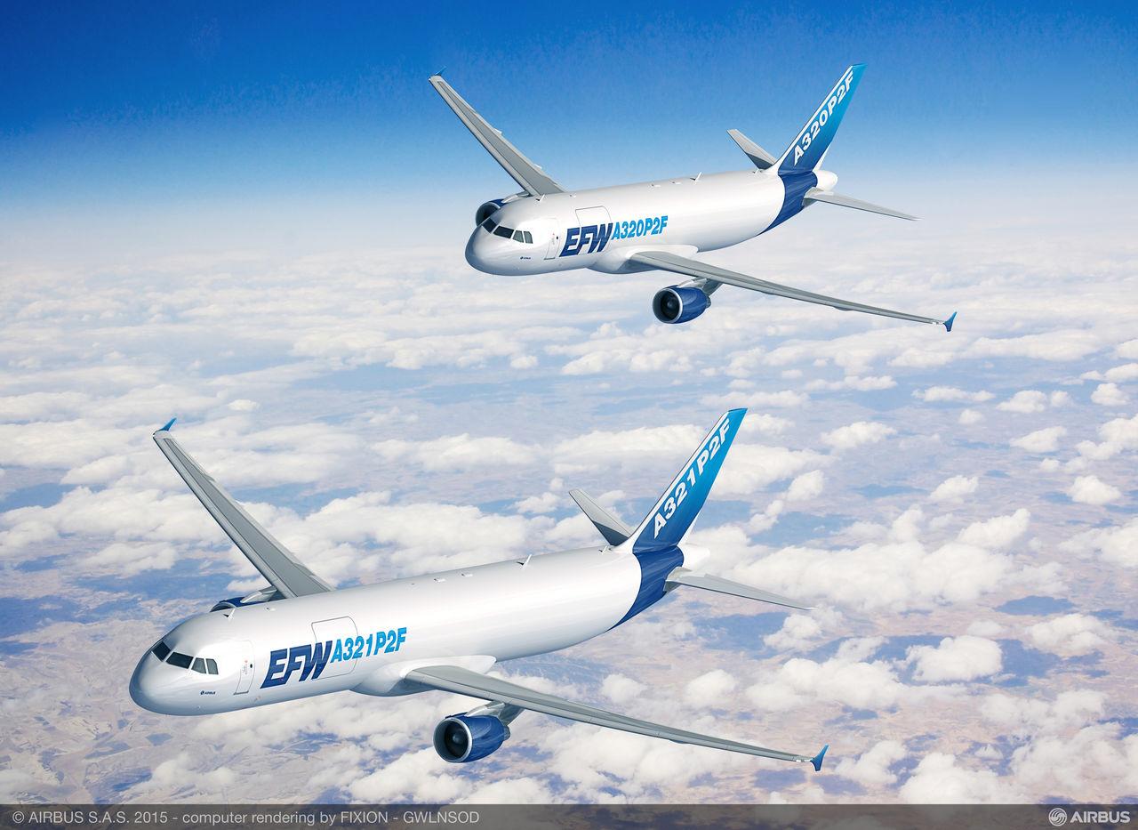Ilyenek lesznek az utasszállítóból cargo géppé átalakított A320-asok és A321-esek. Grafika: Airbus | © AIRportal.hu