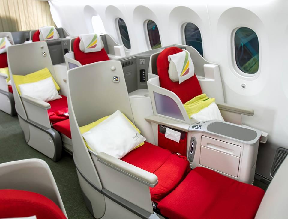 Az új business ülések a flotta egyik Boeing 777-esén. (Fotó: Ethiopian Airlines) | © AIRportal.hu