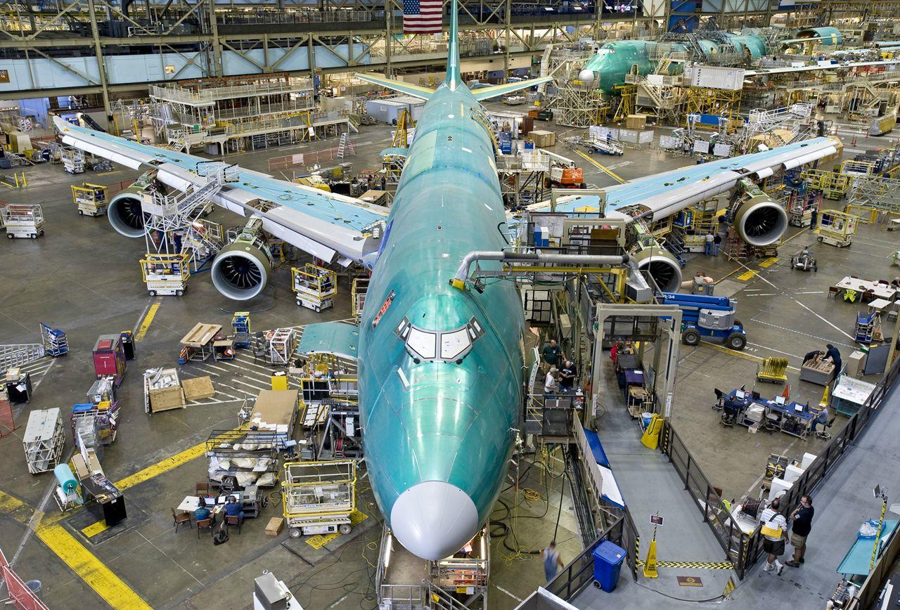 Készülőben lévő Boeing 747-8F Everettben. (Fotó: Boeing Company) | © AIRportal.hu
