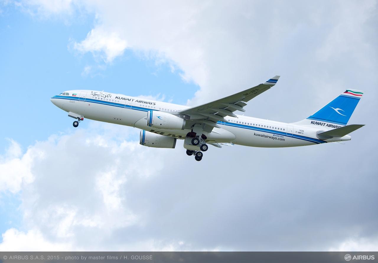Felszállás közben a kuvaitiak első A330-asa. (Fotó: Airbus) | © AIRportal.hu