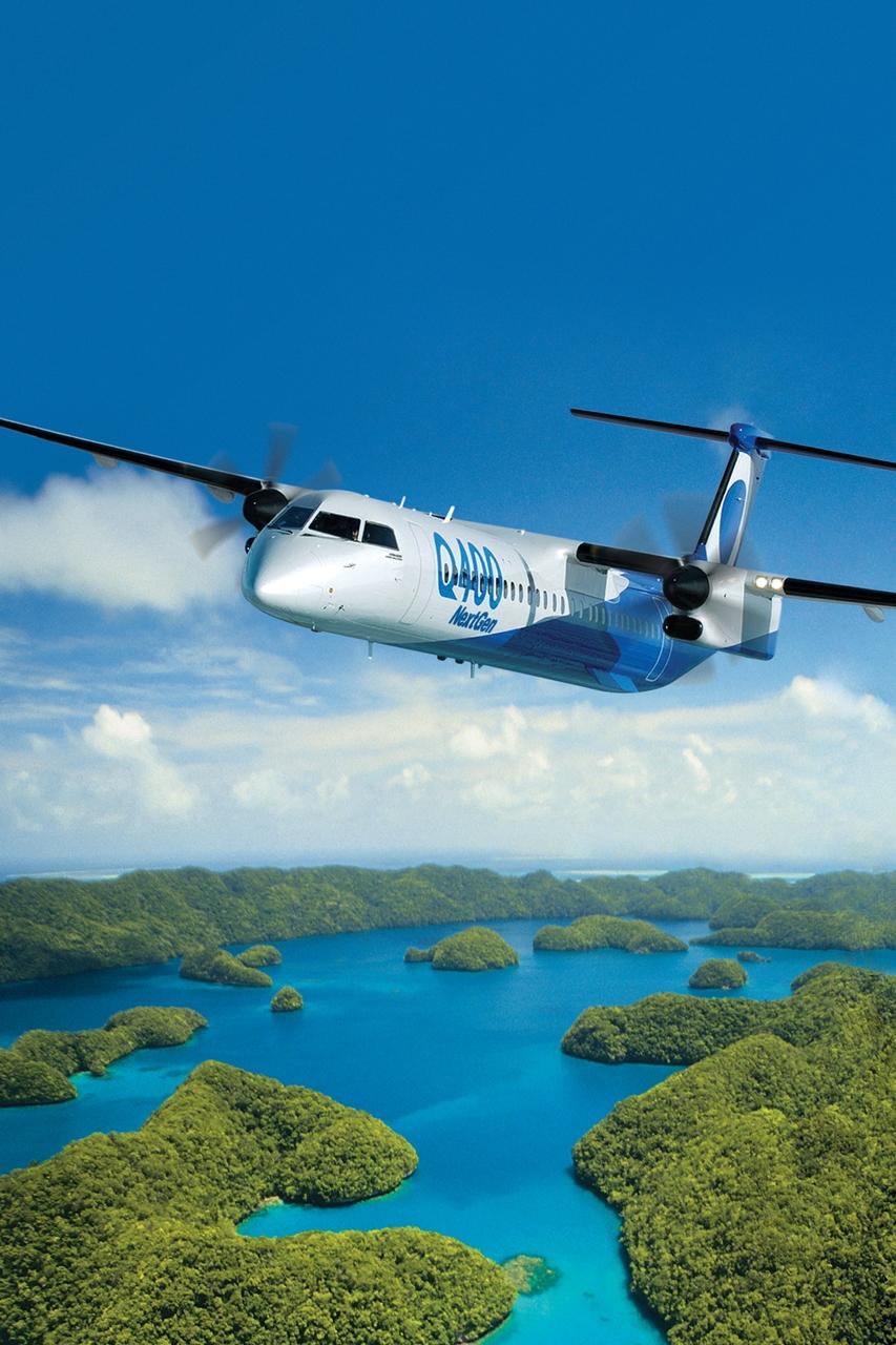 Bombardier Q400NextGen gyári fotón. (Forrás: Bombardier Aerospace) | © AIRportal.hu