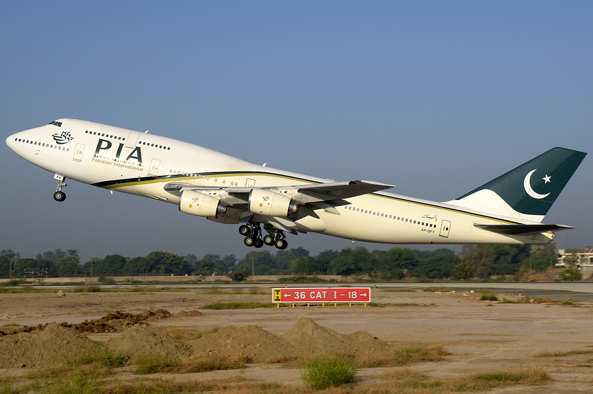 A Pakistan International Airlines utolsó Boeing 747-ese egy 2012-ben készült fotón. (Fotó: Asuspine - Wikimedia) | © AIRportal.hu