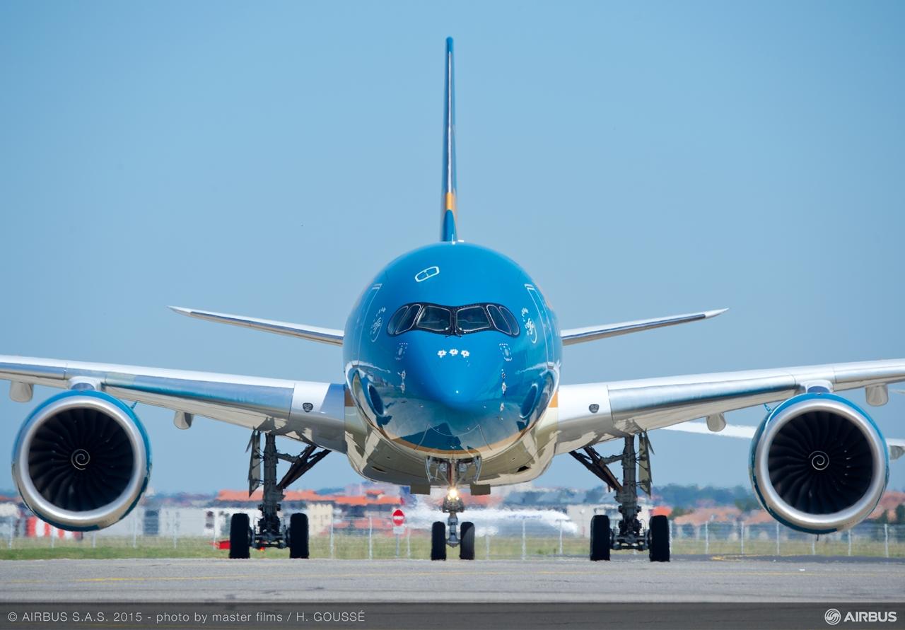 Szemtől szemben a vietnámi flotta legújabb generációs utasszállító típusával. (Fotó: Airbus) | © AIRportal.hu