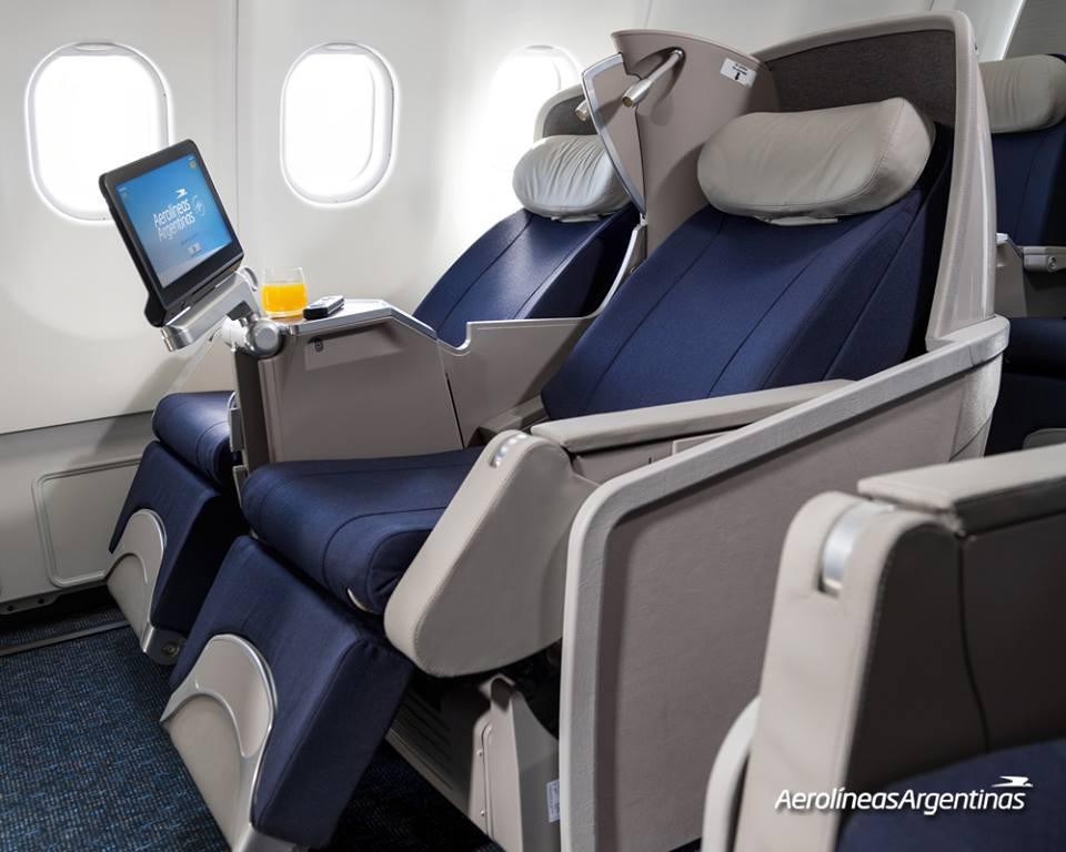 Club Cóndor business osztályú ülés az argentin flotta új A330-200-asán. (Fotó: Aerolíneas Argentinas)   © AIRportal.hu