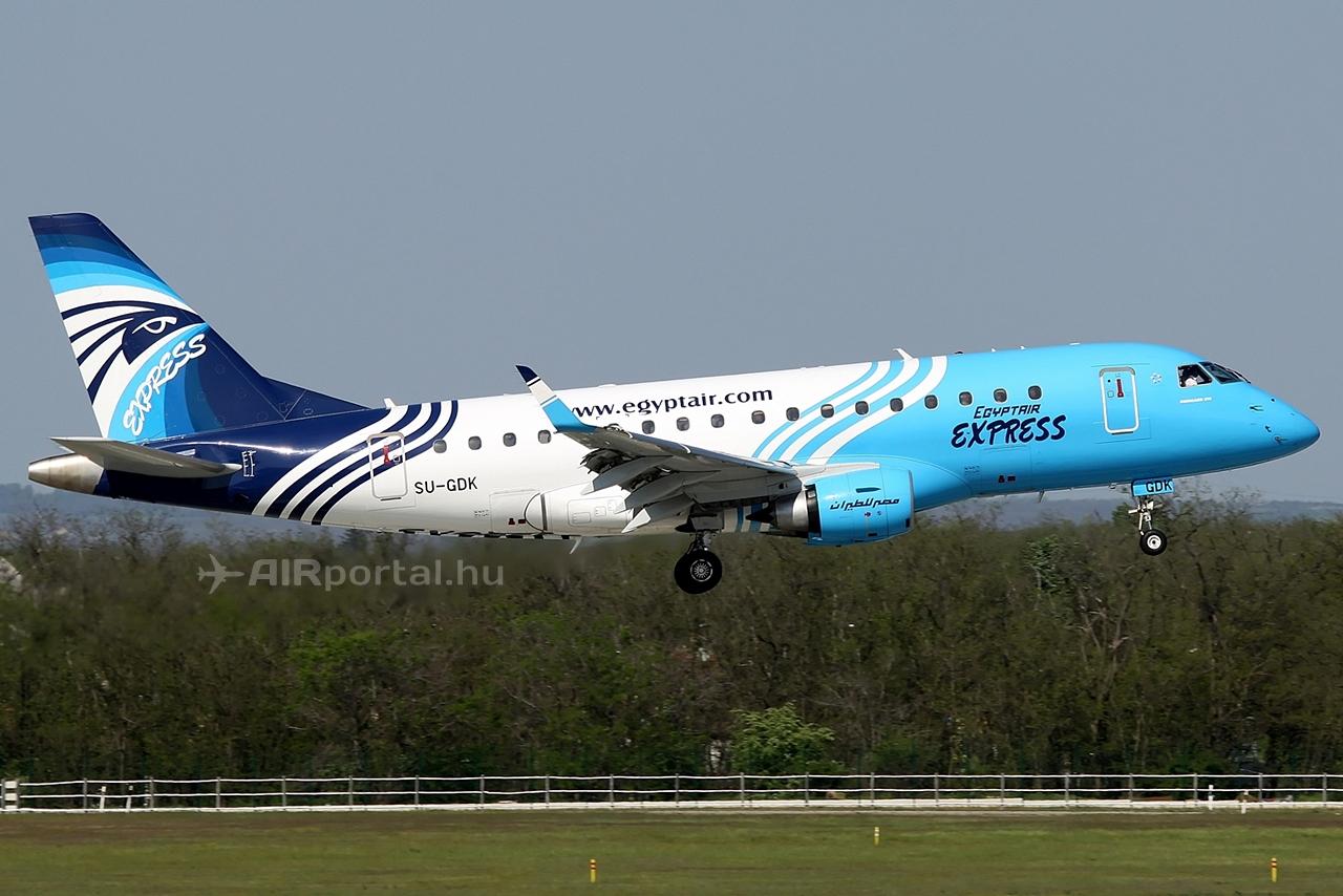 Az Egypt Air regionális útvonalainak teljesítésére jelenleg Embraer E-170-eseket használ. (Fotó: Csemniczky Kristóf - AIRportal.hu)   © AIRportal.hu