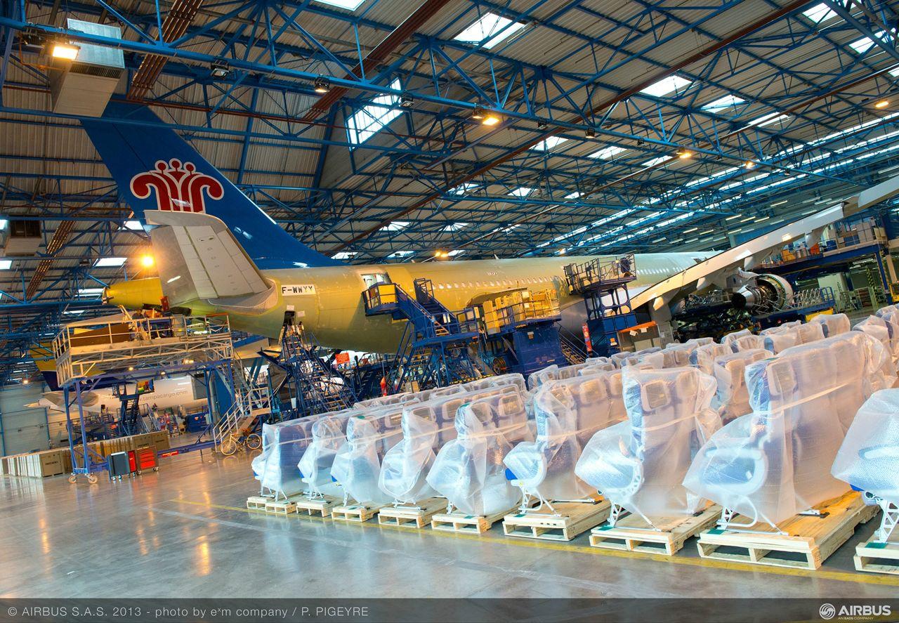 A tiencsini A330-as átadóközpont feladata lesz a gépek festése és kabinberendezése is. (Fotó: Airbus) | © AIRportal.hu