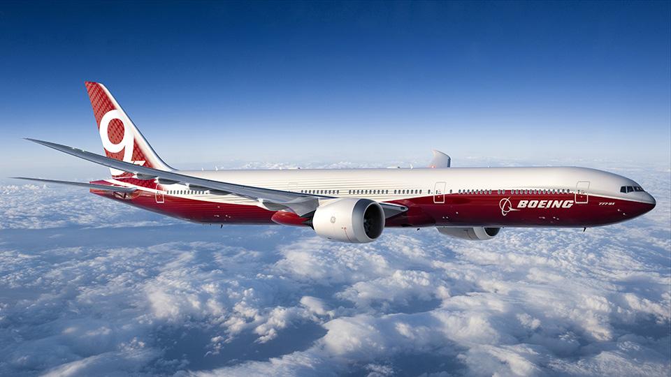 A legdrágább kereskedelmi célú Boeing a leendő legnagyobb 777-es, a 777-9X. Ára 400 millió amerikai dollár. (Fotó: Boeing Company)   © AIRportal.hu