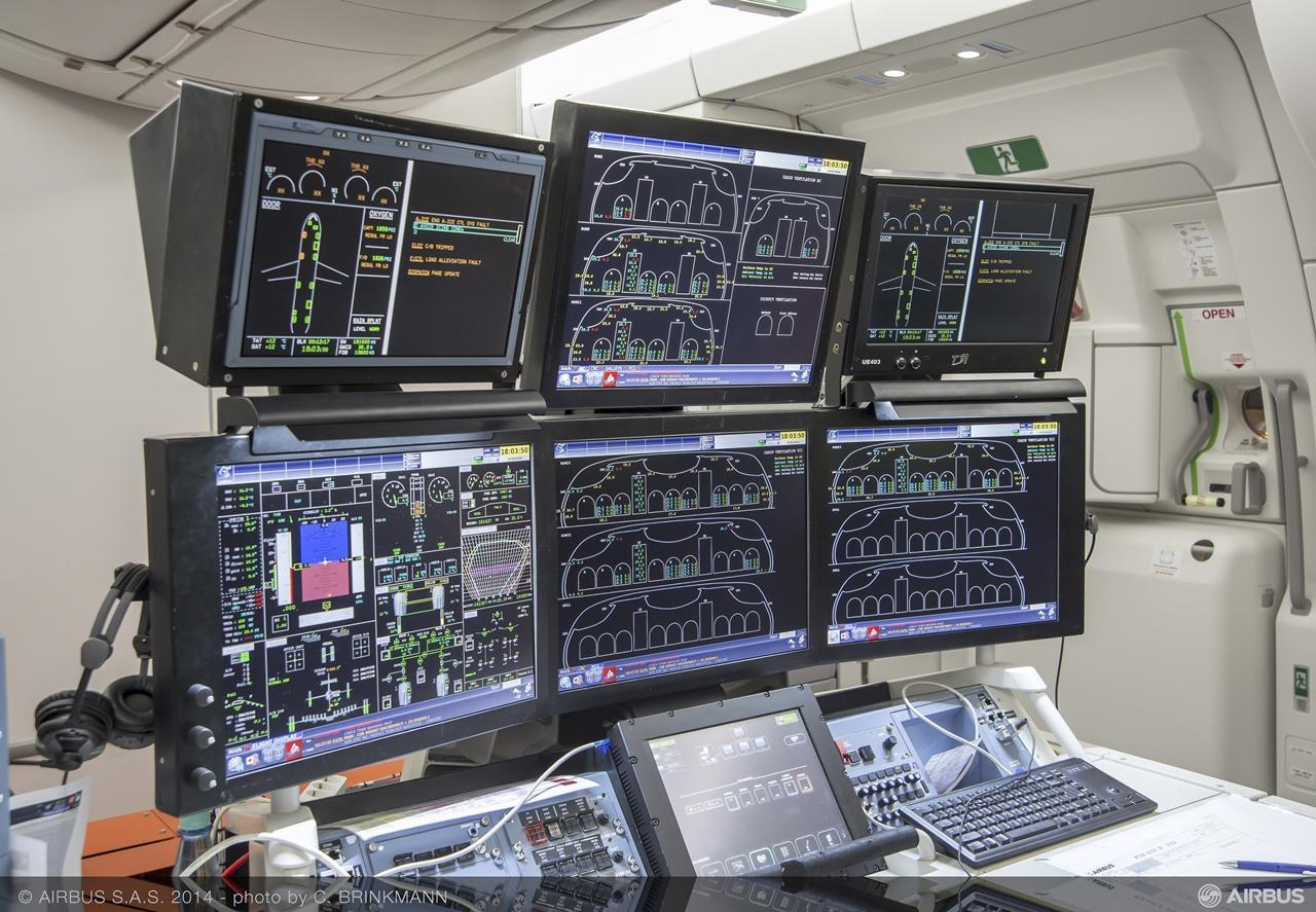 Az utasülések mellett ez a mérőállomás is helyet kapott az MSN2 fedélzetén. (Fotó: Airbus)   © AIRportal.hu