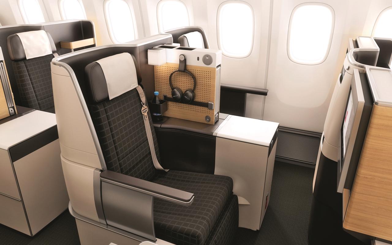 A business osztály ülései. (Fotó: Swiss)   © AIRportal.hu