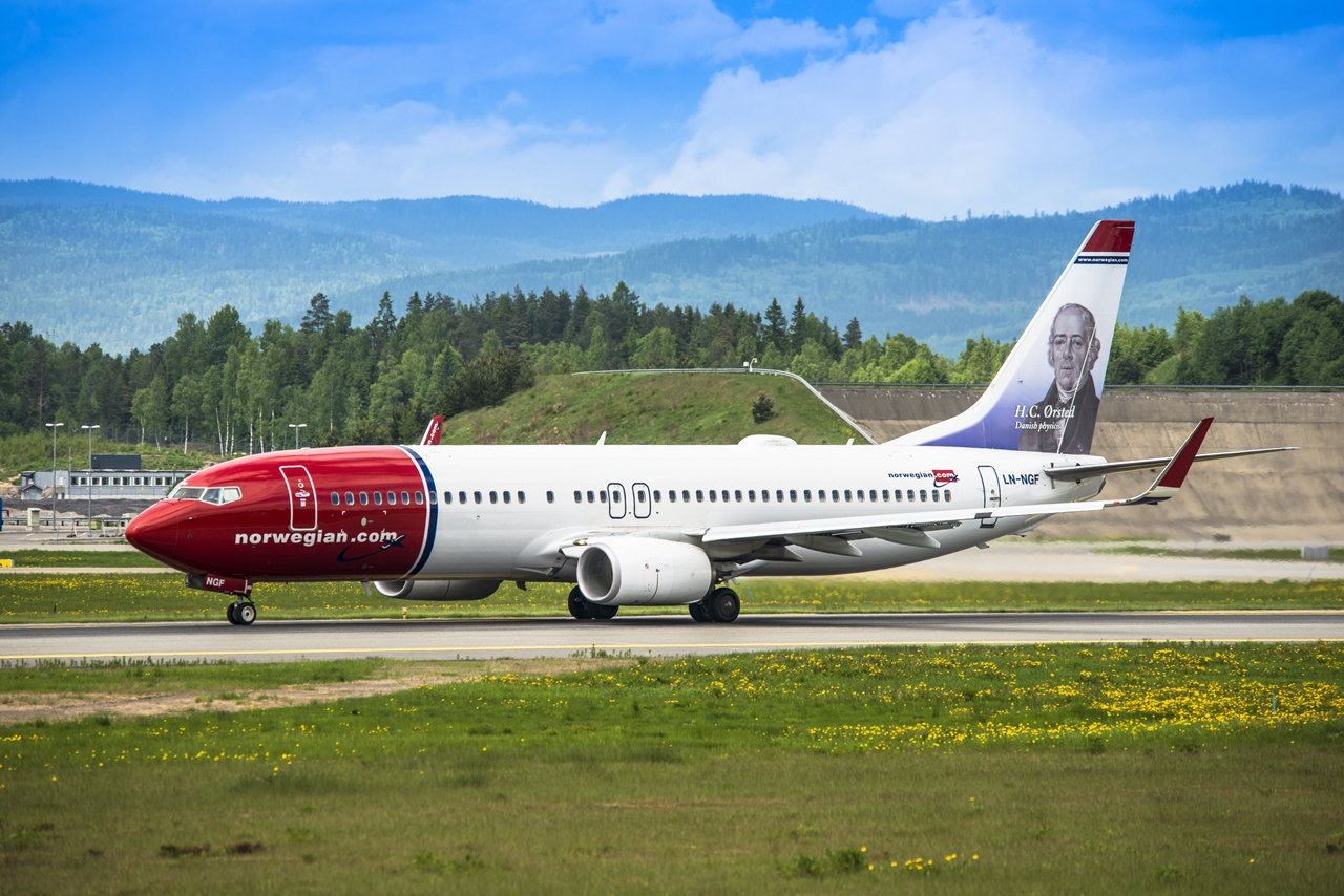 A norvég flotta egyik Wi-Fi kupolás Boeing 737-800NG gépe.(Fotó: Norwegian Air Shuttle) | © AIRportal.hu